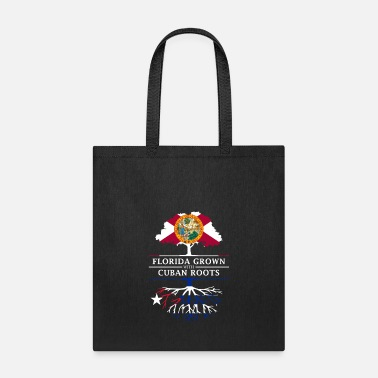 Cuban Roots Design Florida Grown with Cuban Roots Design - Tote Bag