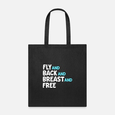 Swim Coach Fly And Back And Breast And Free Swim Team Medley - Tote Bag