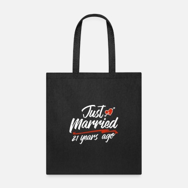Marriage Just Married 21 Year Ago Funny Wedding - Tote Bag