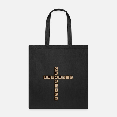 Geek Scrabble Champion- Funny Letter Game Nerd Geek - Tote Bag