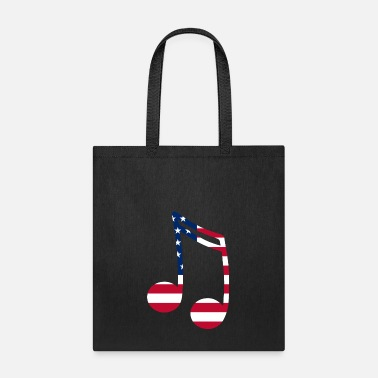 American Music Note American Flag - Tote Bag