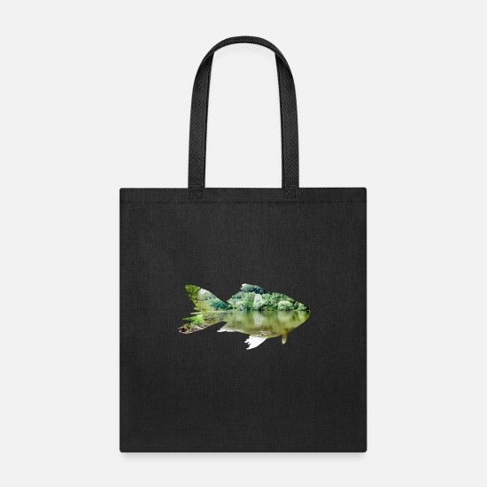 Fishing Bags & Backpacks - Fishing Fish - Tote Bag black