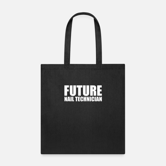 College Bags & Backpacks - Future Nail Technician High School Graduate - Tote Bag black