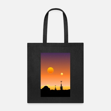 Desert Planet Retrowave Poster - Tote Bag