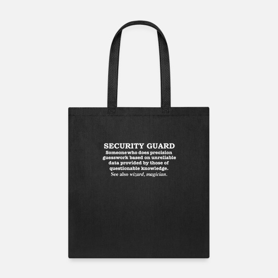 Magician Bags & Backpacks - Security Guard Magician Definition Career - Tote Bag black