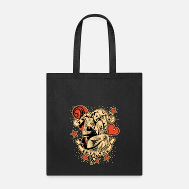 Valentine's Day Screwed & tattooed Pin Up Zombie - Tote Bag