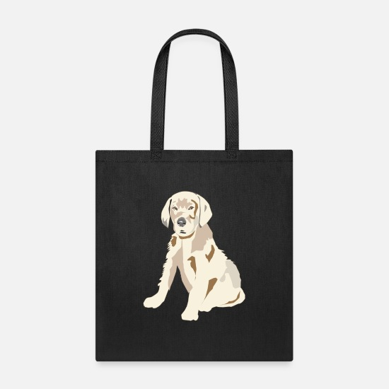 Dog Lover Bags & Backpacks - Labrador Retriever Puppy - Tote Bag black