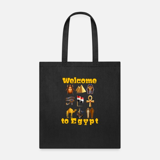 Ancient Bags & Backpacks - Egyptian magic tshirt Egyptische erde apparel - Tote Bag black