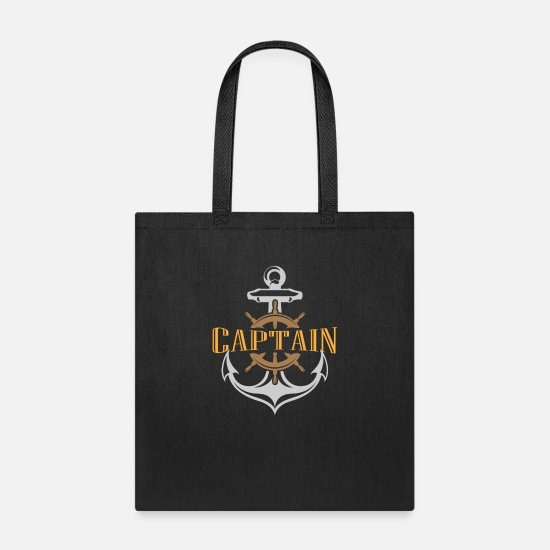 Anchor Bags & Backpacks - Sailor - Captain Anchor Wheel - Tote Bag black
