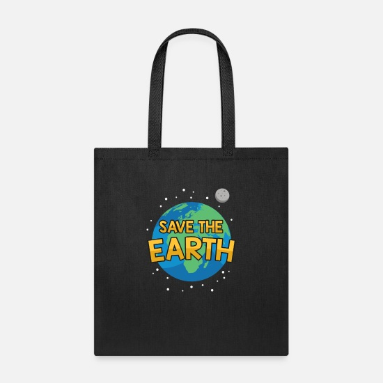 Development Bags & Backpacks - save the earth! blue planet gift earth day clima - Tote Bag black