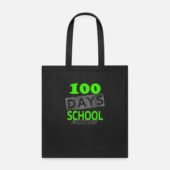 Kindergarten Bags & Backpacks - Cute 100 days of school T-Shirt - Tote Bag black