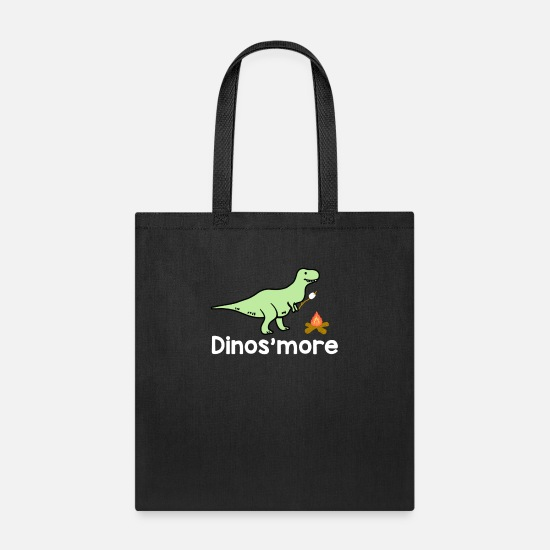 Camping Bags & Backpacks - Dinosmore Dinosaur Camping - Tote Bag black
