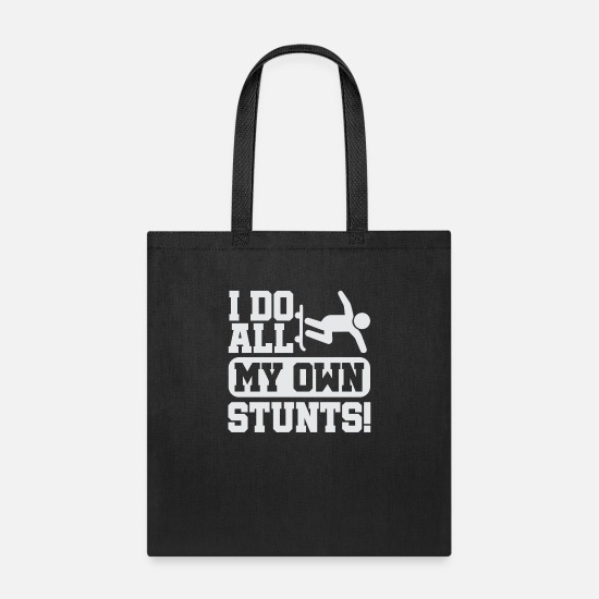 Gift Idea Bags & Backpacks - Skater Stuntman - Tote Bag black