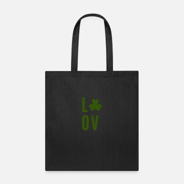 Cool Shamrock Love with a shamrock - Tote Bag
