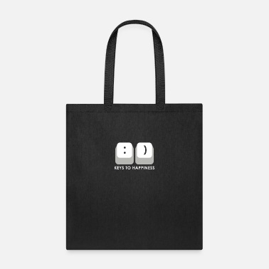KEYS TO HAPPINESS - Puns - D3 Designs - Tote Bag