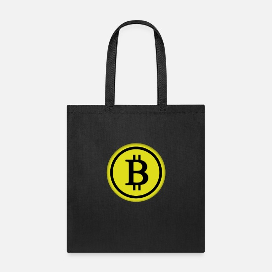 Bitcoin Bags & Backpacks - Bitcoin in yellow - Tote Bag black