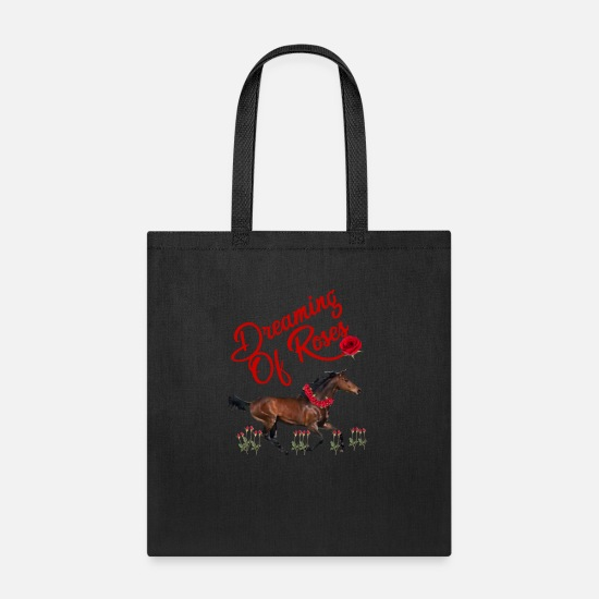 Horse Racing Bags & Backpacks - Horse Racing Dreaming Of Horses - Tote Bag black