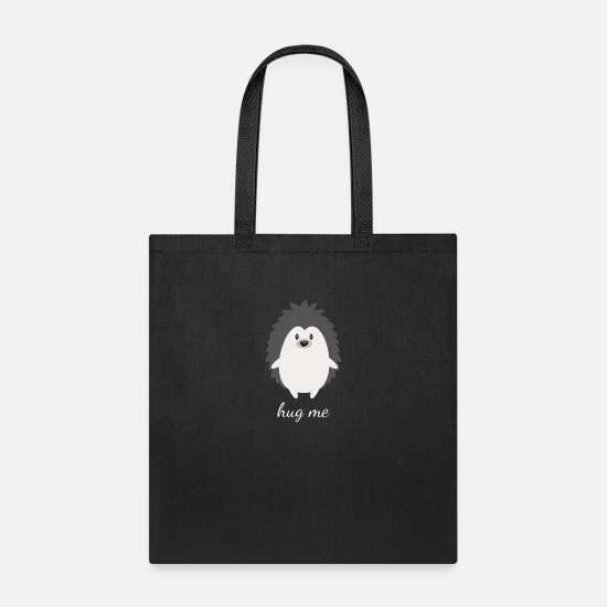 a0a2b7cc40c9 Hug Me Cute Wild Animal gift Hedgehog Sweet Pet Tote Bag - black