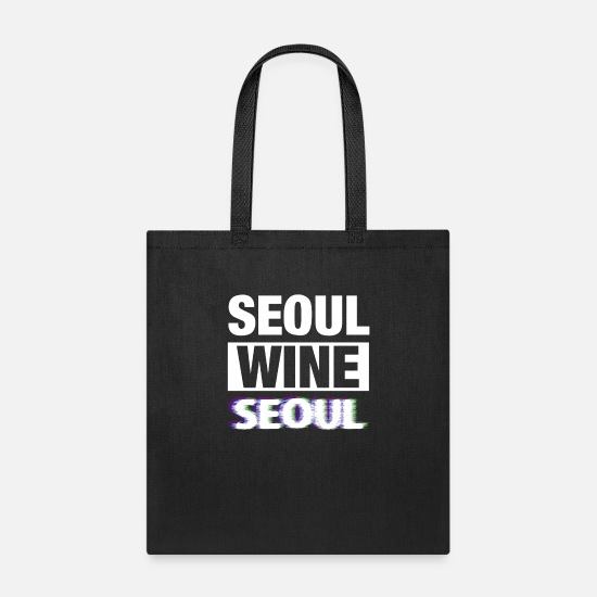 South Korea Bags & Backpacks - Seoul South Korea Wine - Tote Bag black