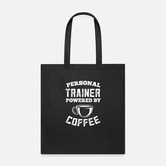 Physics Bags & Backpacks - Personal Trainer Coffee Drinker - Funny Workout - Tote Bag black