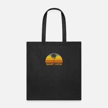 Palm Trees Vintage St Lucia Beach Palm Tree Sunset Cool - Tote Bag