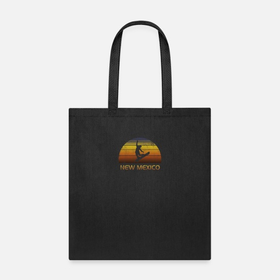 Mexico Bags & Backpacks - Vintage Retro New Mexico Snowboard Fan Ski Winter - Tote Bag black