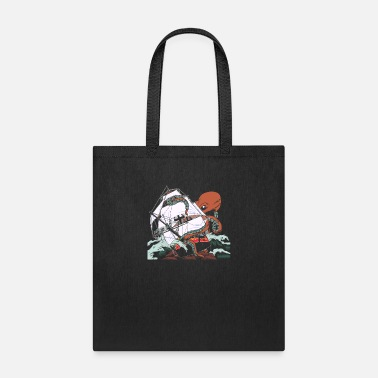 Shipwrecked The Kraken - Sea Monster Octopus Shipwreck - Tote Bag