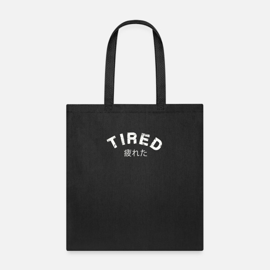 Vaporwave Bags & Backpacks - TIRED Vaporwave Aesthetic Design Distressed - Tote Bag black