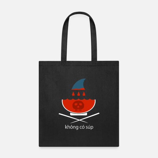 Shark Fin Bags & Backpacks - No Shark Fin Soup in Vietnamese - Tote Bag black