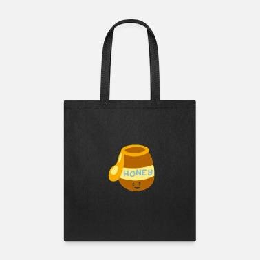 Honey Cute Happy Honey Pot Smiling Honey Funny - Tote Bag