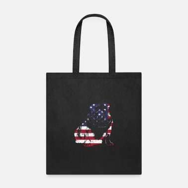 British Bulldog American Flag | Vintage Pet - Tote Bag