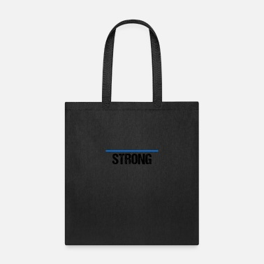 thin line blue strong black - Tote Bag