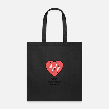 Cardiography geek heartbeat evolved - Tote Bag