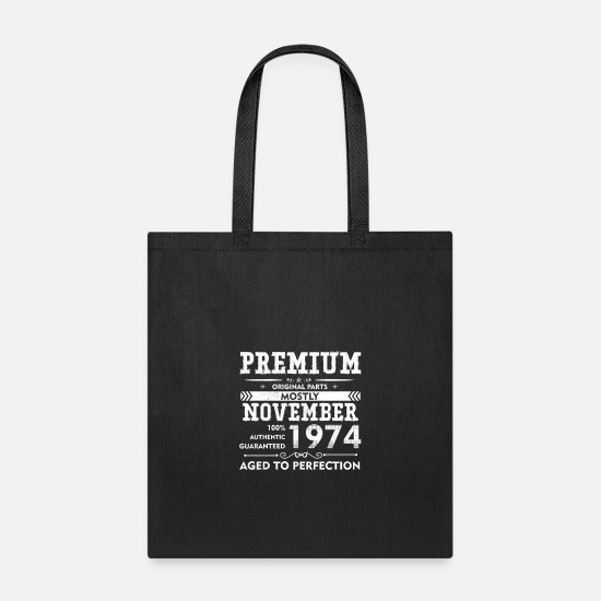 58th Birthday Gift Tote Shopping Cotton Bag Vintage 1962 Matured To Perfection
