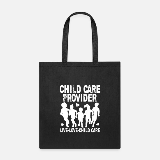 Care Bags & Backpacks - Child Care Provider - Tote Bag black