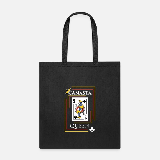 Canasta Bags & Backpacks - Canasta design Gift for Card Game Players and - Tote Bag black