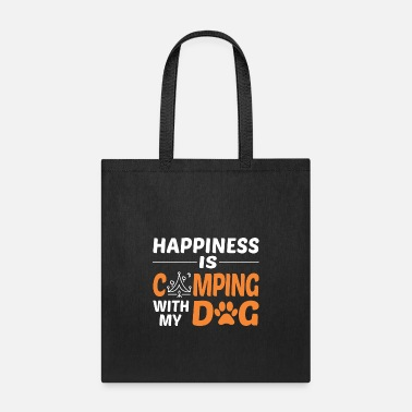 Happiness Is Camping With My Dog Tshirt - Tote Bag