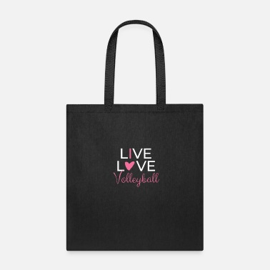 Teamsport Live Love Volleyball Beachvolleyball Teamsports - Tote Bag