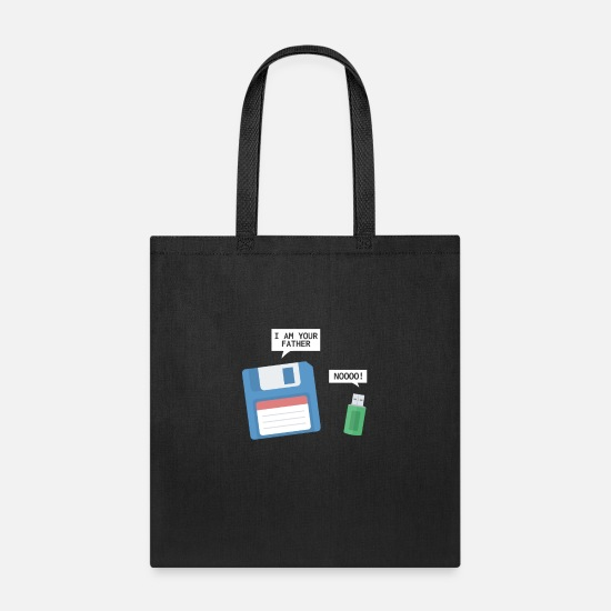 Code Bags & Backpacks - USB And Floppy Disk I Am Your Father - Tote Bag black