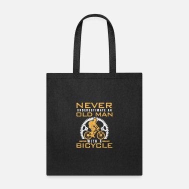 Bmx Grandfather bicycle old man cyclist grandfather - Tote Bag
