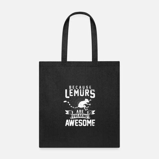 Monkey Bags & Backpacks - Lemur Animal protection Night active Threatened Pr - Tote Bag black