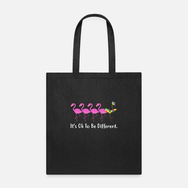 Different It's OK To Be Different Funny Flamingo Autism - Tote Bag