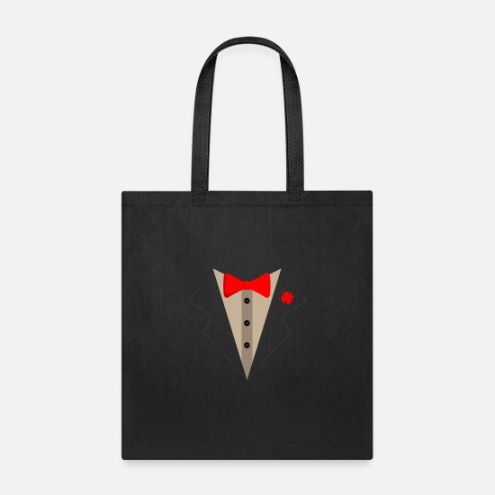Tuxedo Bags & Backpacks - Tuxedo Suit Bachelor Party Wedding - Tote Bag black