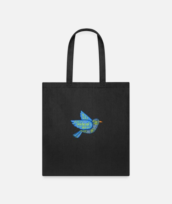 "Pppp Bags & Backpacks - PPPP ""Horizon"" Celebrate the People You Love - Tote Bag black"