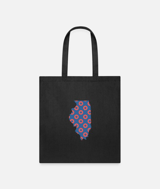 Donut Bags & Backpacks - Phish Fishman Donut Illinois Phanart - Tote Bag black