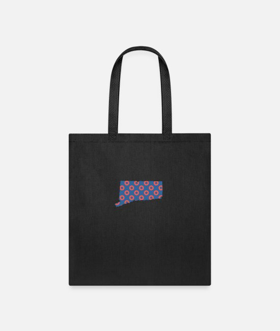 Donut Bags & Backpacks - Phish Fishman Donut Connecticut Phanart - Tote Bag black