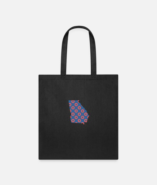 Donut Bags & Backpacks - Phish Fishman Donut Georgia Phanart - Tote Bag black