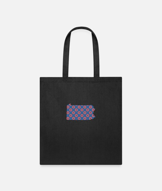 Donut Bags & Backpacks - Phish Fishman Donut Pennsylvania Phanart - Tote Bag black
