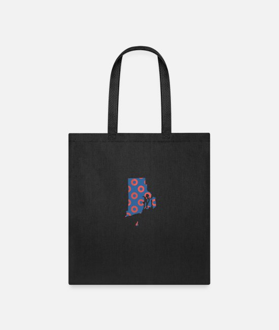 Donut Bags & Backpacks - Phish Fishman Donut Rhode Island Phanart - Tote Bag black