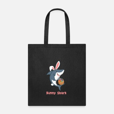 Bunny Shark Happy Easter Funny T shirt - Tote Bag